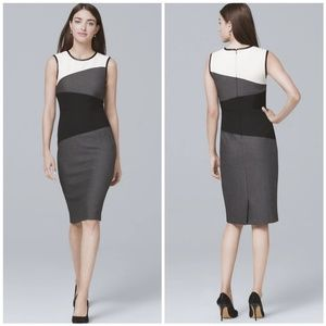 WHBM Colorblock Sheath Dress 8P
